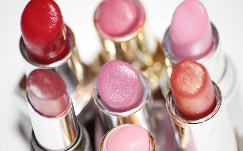 Picture of a group of lipsticks. Mold on lipstick?