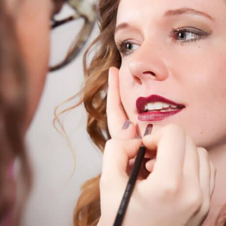 No GMOs Fierce lipstick application to Melissa