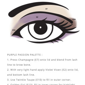Enhanced pigmentation look using Purple Passion Designed Palettes