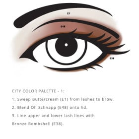 Allergen Free City Palette – Color enhances the eyes safely