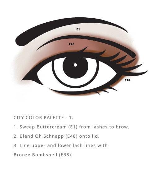Allergen Free City Palette – Color enhances the eyes safely