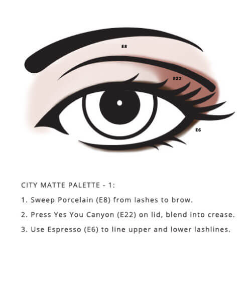 Mineral Based City Palette – Matte look