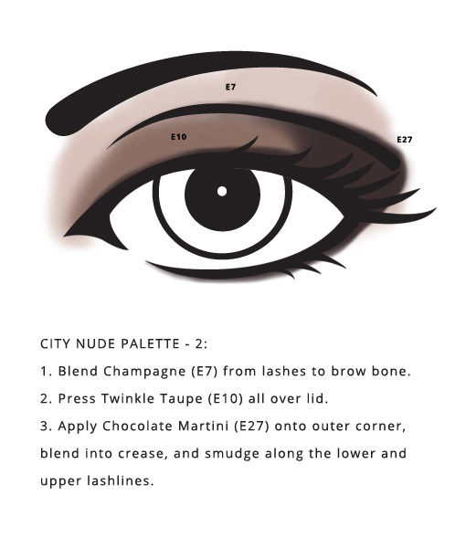 Paraben Free City Palette – Nude from Red Apple Lipstick