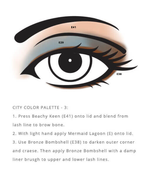 Mineral Based City Palette – Color from Red Apple Lipstick