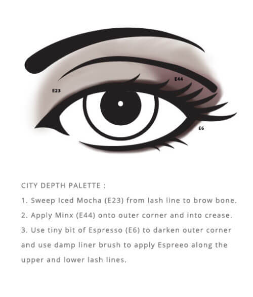 Allergen Free City Palette – Depth designed by Red Apple Lipstick