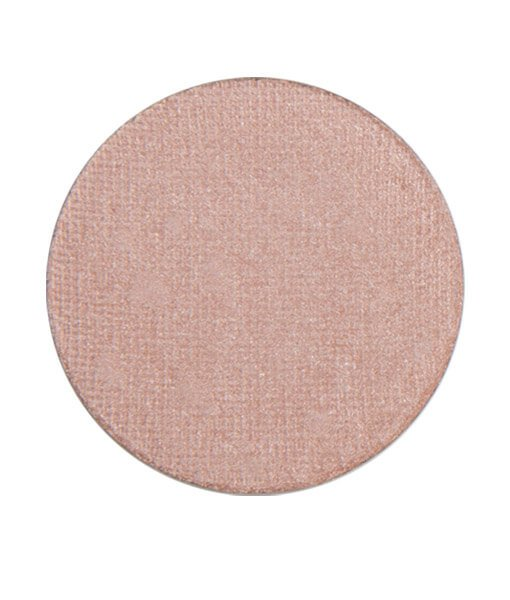 Image of Red Apple Lipsticks eyeshadow in the shade called Sand Castle. Light nude peach color with golden shimmer to create Eye Makeup For Blue Eyes