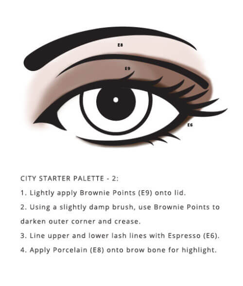 smokey eye style using Soy Free City Palette – Starter