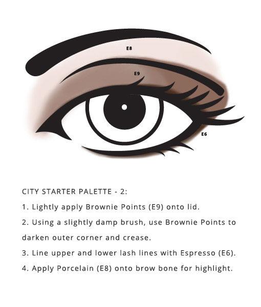 smokey eye style using Soy Free City Palette – Starter