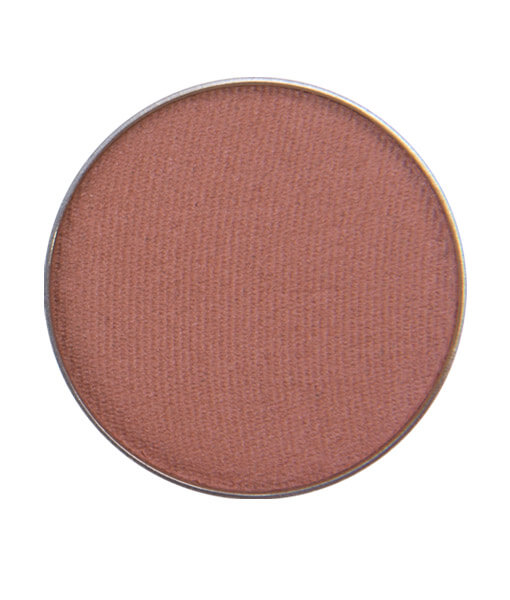 Image of Sugar & Spice Eyeshadow that is matte with a medium warm spicy brown with reddish orange undertones. Use for a crease color in your pumpkin Halloween Makeup