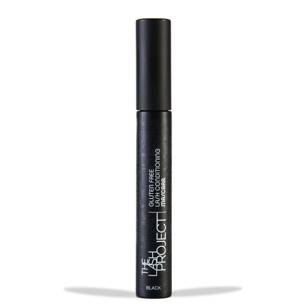 Image  of Black The Lash Project Mascara tube. The Lash Project is a black mascara with conditioning properties to add weightless definition to your lashes. Mascara will  help to finish your Flapper Makeup Look