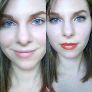 Gluten free lipstick transformation