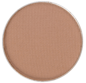 Allergen Free eyeshadow in the shade called Like U Latte. Perfect neutral base color with slight shimmer for a base shade of your Halloween makeup pumpkin costume