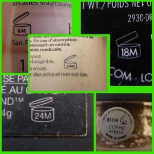 Lost In Translation: Makeup Packaging Symbols: Lifespan