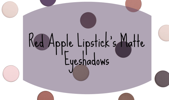 Red Apple Lipstick's Matte Eyeshadows