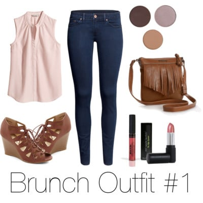 brunch outfit and RAL cosmetics