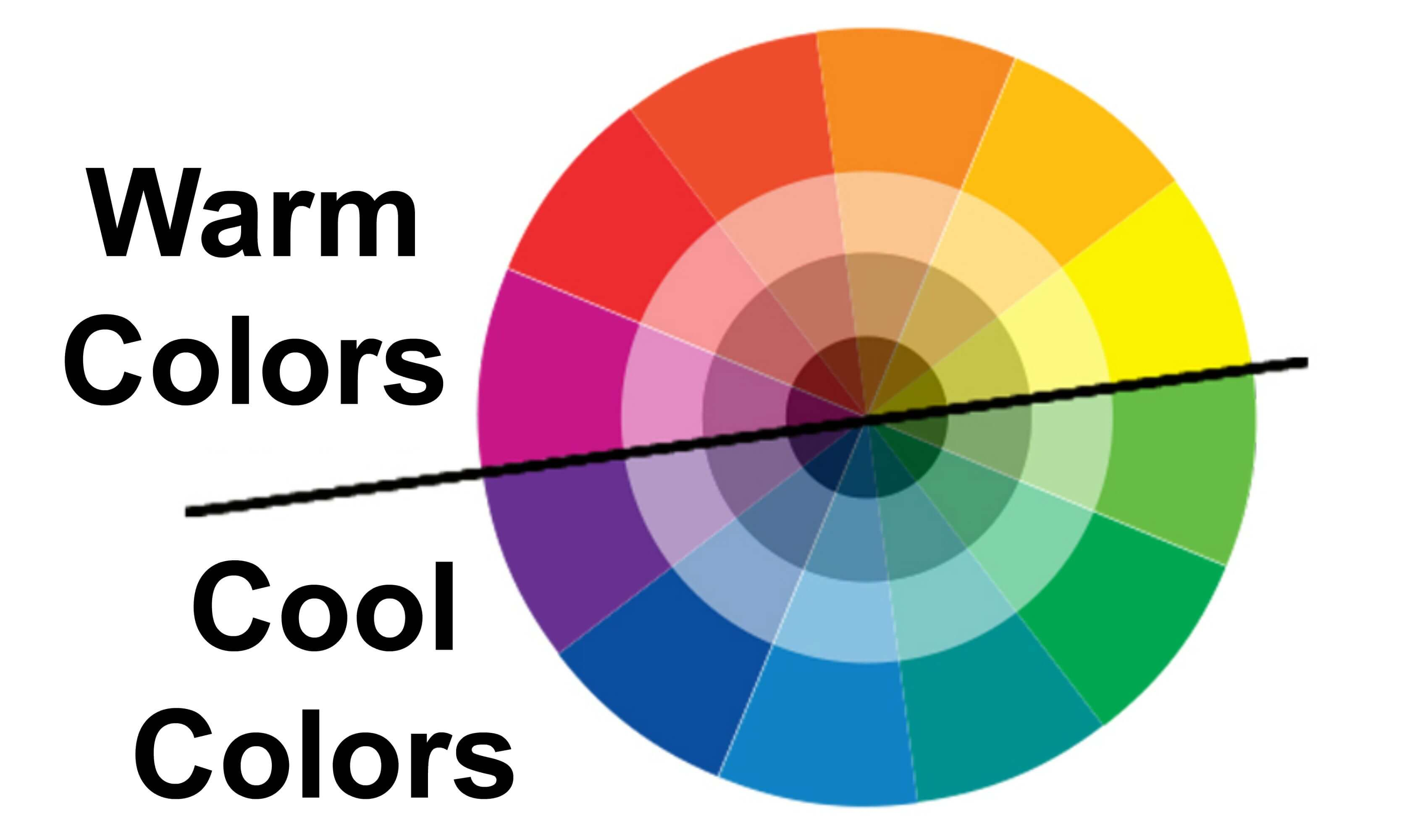 How do warm colors and cool colors differ