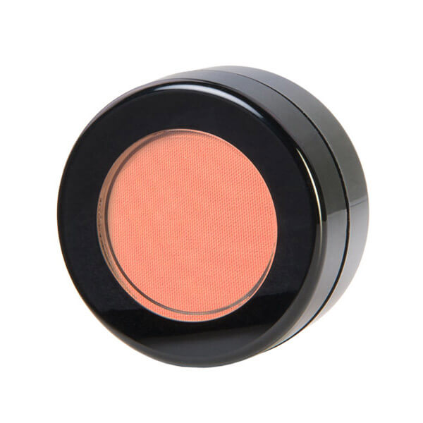 Image of Coy blush that is pink and apricot colored in small cosmetic jar. This blush can be used for your pumpkin Halloween Makeup as an all over lid color too.