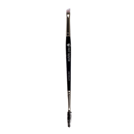 image of a dual ended brush tool one end has a spoolie mascara wand and the other end is an angled brush this is the perfect tool for shaping eyebrows or applying eyeshadow as eyeliner