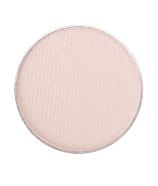 Image of Matte Nude Eye Shadow - in the shade called porcelain from Red Apple Lipstick. Porcelain is a light, matte off white nude eyeshadow that is slightly pink and a peachy yellow tint.