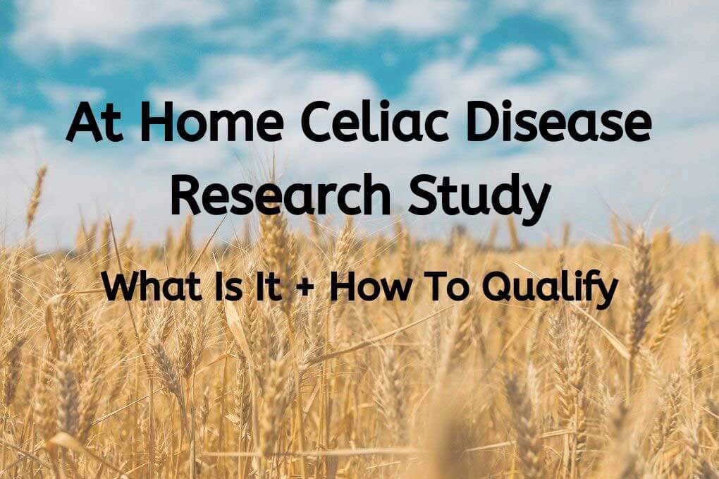 photo of wheat field with at home celiac research study words