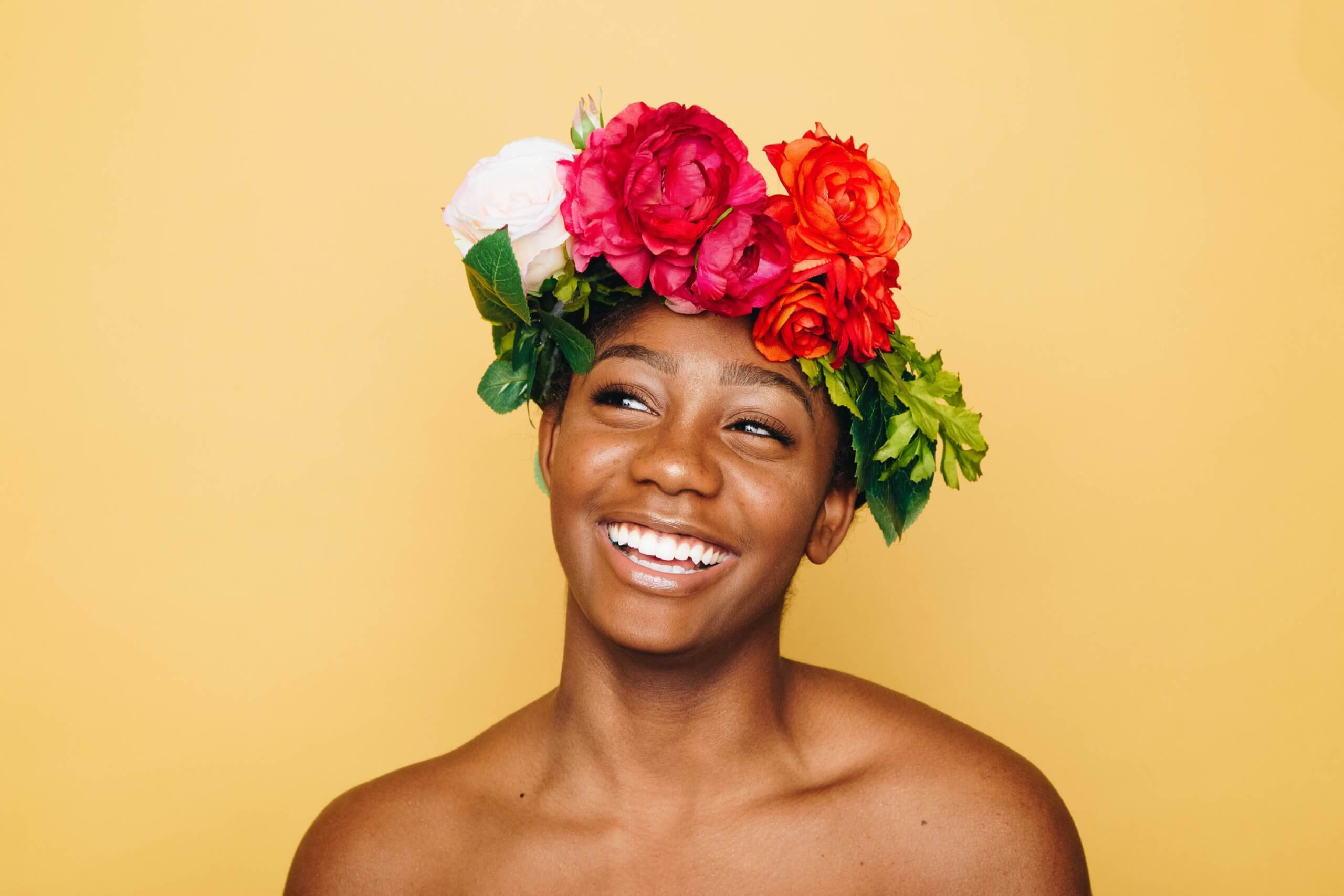 Purely Decorative - Girl with ring of flowers on her head Photo by Autumn Goodman on Unsplash