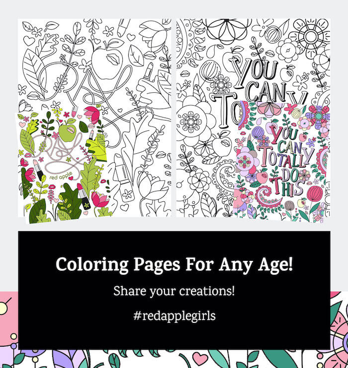 Spring Makeup Coloring Pages