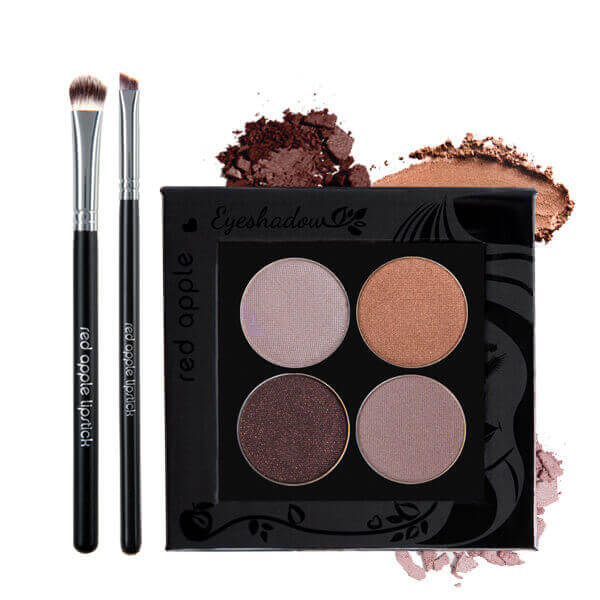 Image of Gluten Free Eye shadow palette and Vegan Brushes from Red Apple Lipstick