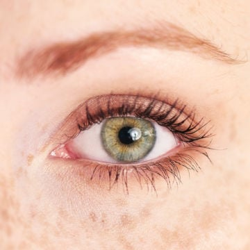 picture of a woman's green eye for demonstration purposes
