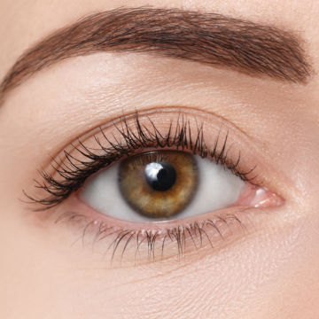 picture of a woman's hazel eye for demonstration purposes