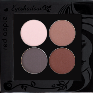 Picture of curated matte eyeshadows for green eyes in a z-palette by Red Apple Lipstick