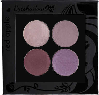 Picture of curated shimmer eyeshadows for green eyes in a z-palette by Red Apple Lipstick