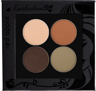 Picture of curated matte eyeshadows for hazel eyes in a z-palette by Red Apple Lipstick