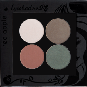 Picture of curated shimmer eyeshadows for hazel eyes in a z-palette by Red Apple Lipstick