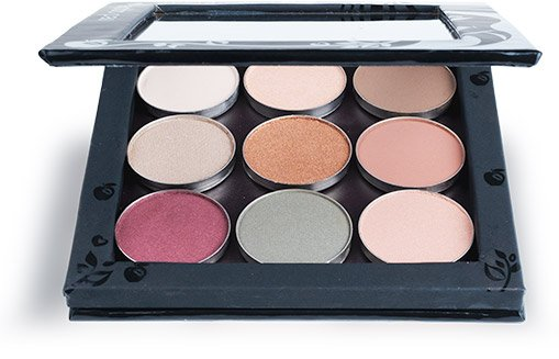 Picture of an open Hypoallergenic Eyeshadow Palette for Sensitive Eyes by Red Apple Lipstick - 1
