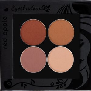 Picture of curated matte eyeshadows for grey eyes in a z-palette by Red Apple Lipstick