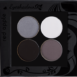 Picture of curated shimmer eyeshadows for grey eyes in a z-palette by Red Apple Lipstick