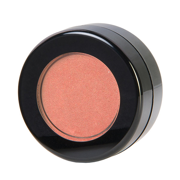 Image of Red Apple Lipstick Gotta Glow Blush a Slightly shimmery peachy pink blush shade. Shown for the Wedding makeup tips blog
