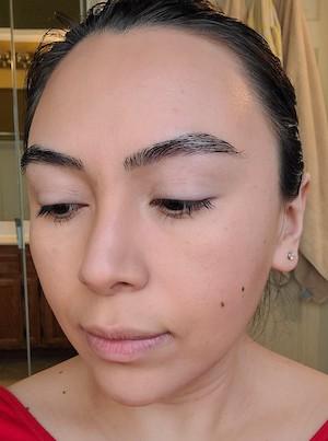 Image of model Noemi demonstrating date night makeup.