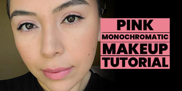 Pink Monochromatic Springtime Makeup Look