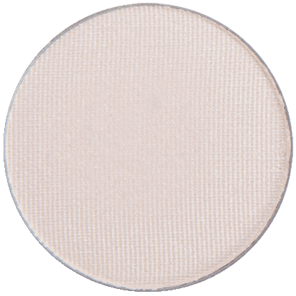 Image of eyeshadow pan in the shade called Buttercream by Red Apple Lipstick. Buttercream is a light shimmery off white shade with a slight yellow tint.