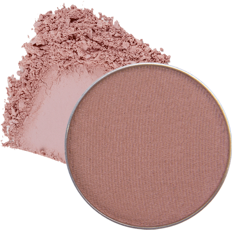 Image of eyeshadow pan in the shade called Made You Wink by Red Apple Lipstick. Made You Wink is a soft matte rosey taupe.