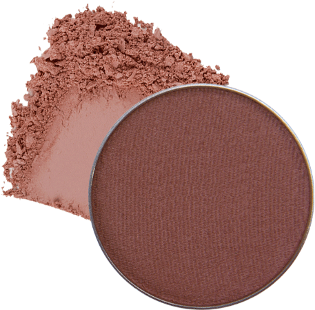 Image of eyeshadow pan in the shade called Plums Up! by Red Apple Lipstick. Plums Up! is a matte taupe plum color.