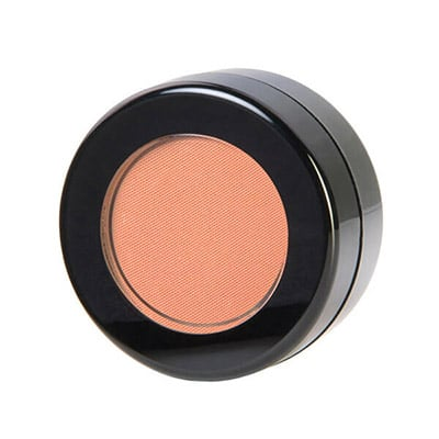 Image of Good Vibes Blush in its container by Red Apple Lipstick. Good Vibes is a Matte fresh tangerine blush