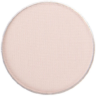 Image of close up of Porcelain Eyeshadow pan by Red Apple Lipstick a light, matte, off-white, creamy nude pan by Red Apple Lipstick