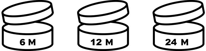 Image of POA makeup packaging symbols showing makeup expiration times.