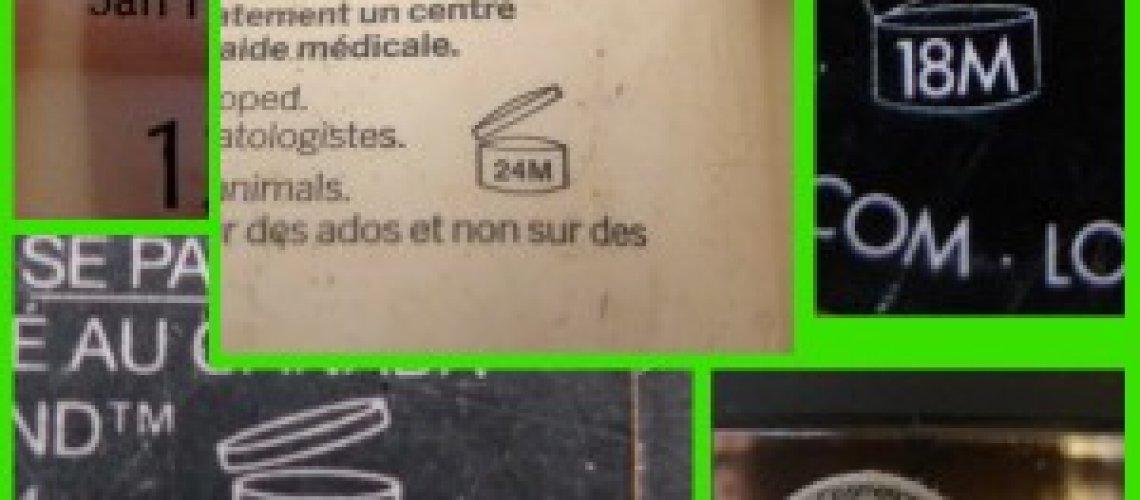 jar symbol on makeup packaging